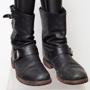 Frye Leather Boot with Straps Size 9.5